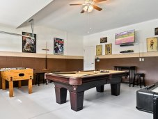 Garage converted into game room
