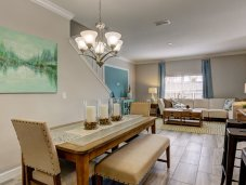 The Royal Palm town home dining room
