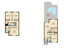 The Sabal Palm townhome floor plan