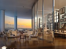 Ritz Carlton club room with intracoastal view