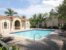 Community pool in a Miami gated community